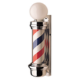 Barber Pole With Globe Light
