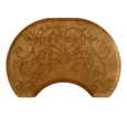 Bella Copper Leaf  Round Mat with Chair Depression