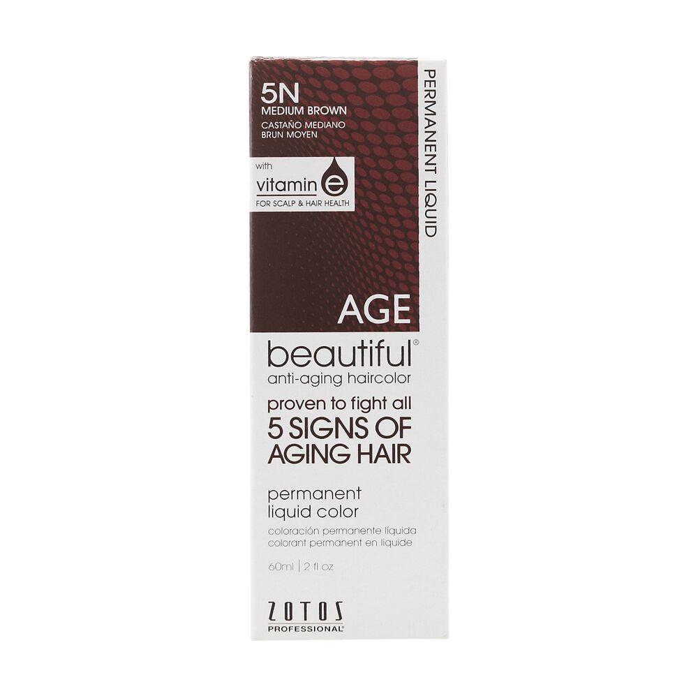 Anti Aging 5n Medium Brown Permanent Liquid Hair Color By