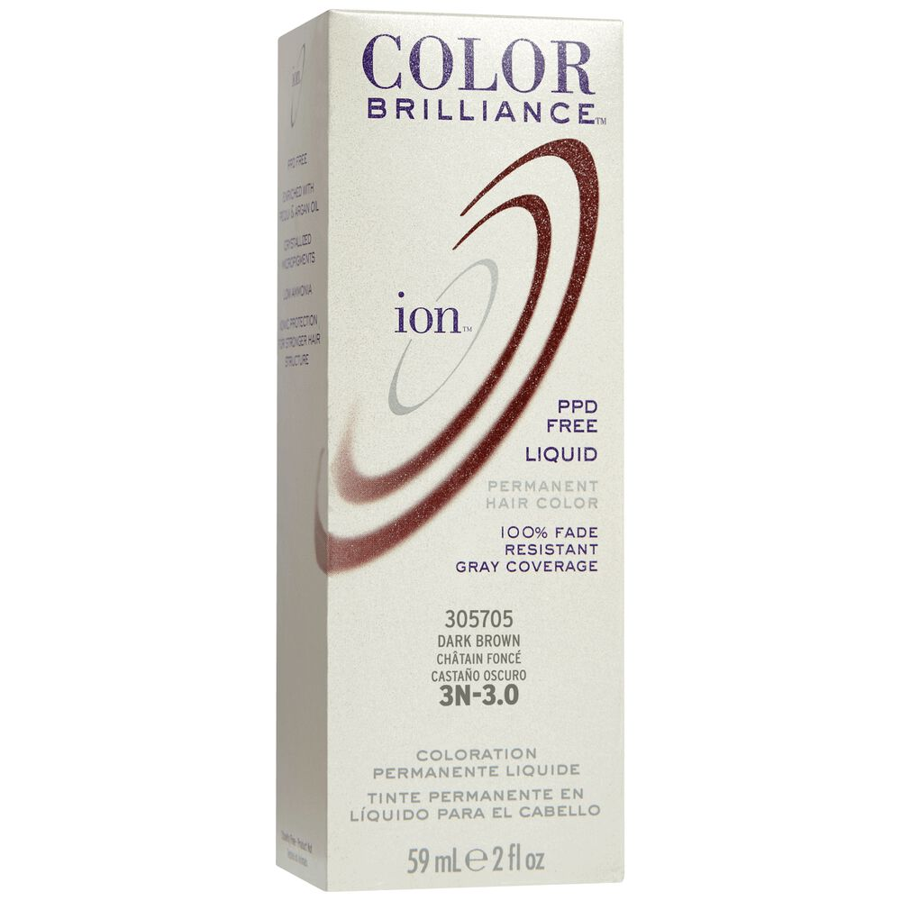 Ion 3n Dark Brown Permanent Liquid Hair Color By Color Brilliance