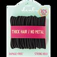 Black Medium Thick Elastics Bonus Size