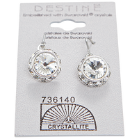 Crystal Rhinestone Rivoli Dangle Earring