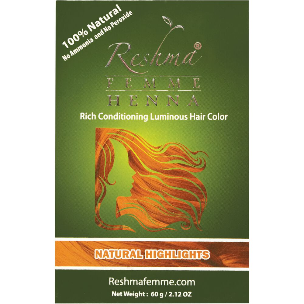 Natural Highlights Henna Semi Permanent Hair Color By Reshma