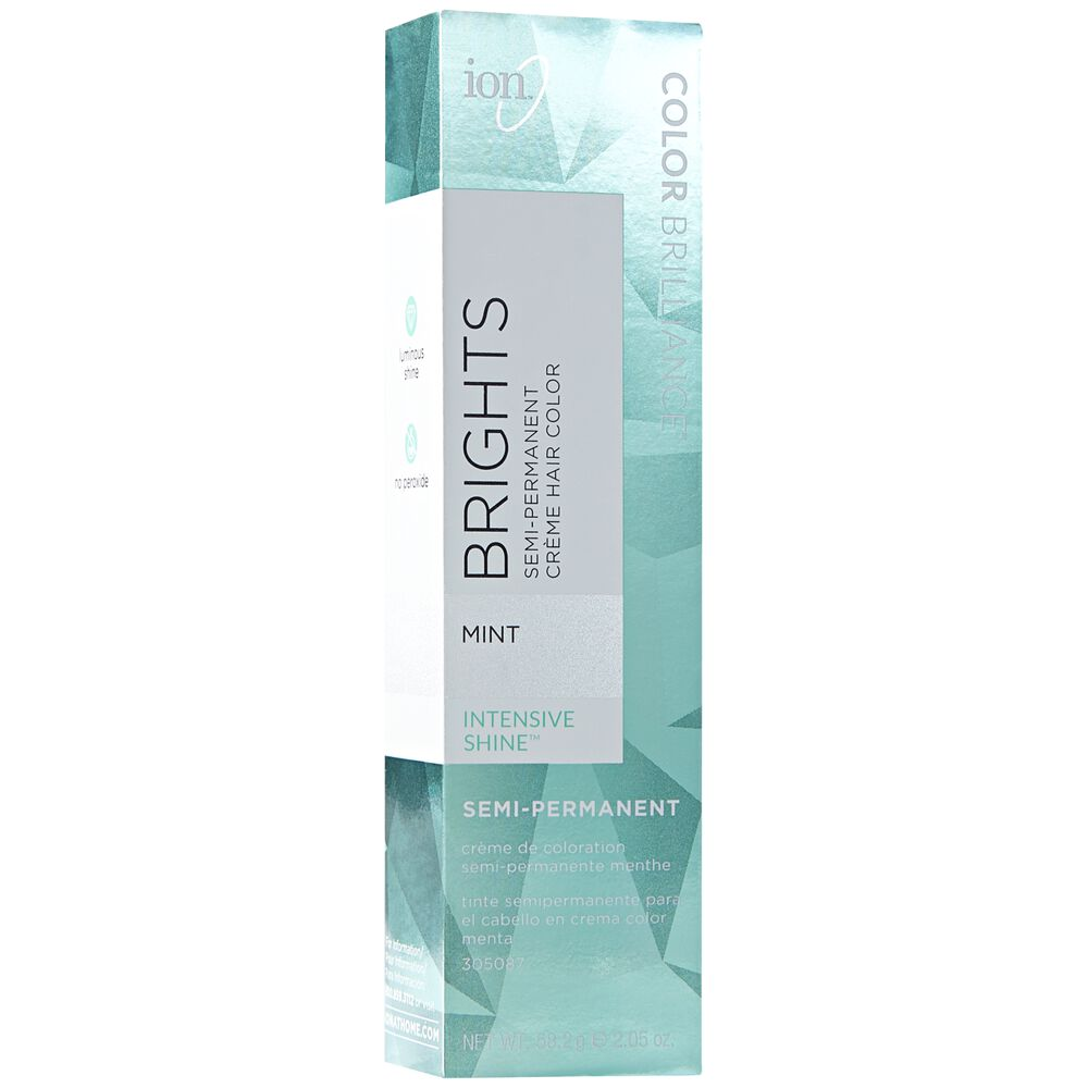 mint color brilliance brights semi permanent hair color by ion