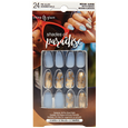 Shades of Paradise Nail Tips Blue with Gold Foil