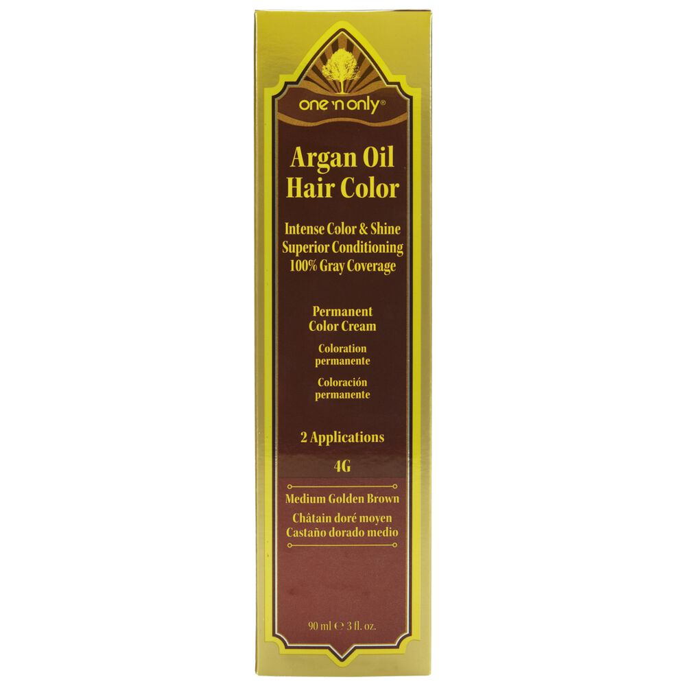 4g Medium Golden Brown Permanent Cream Hair Color