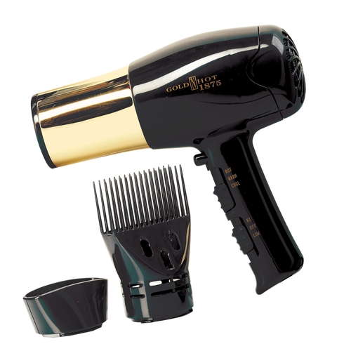 nullEuro Style Hair Dryer with Gold Barrel & Styling Pik