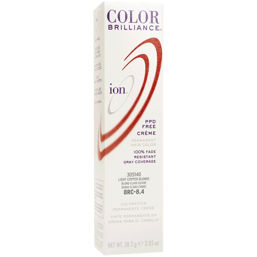 Ion 8rc Light Copper Blonde Permanent Creme Hair Color By Color