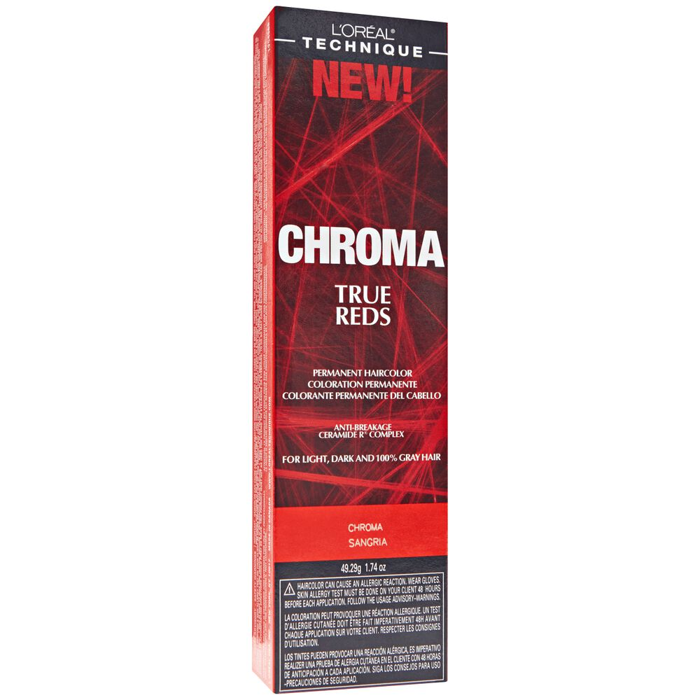 Loreal technique chroma true reds permanent hair color 6rv chroma sangria geenschuldenfo Image collections