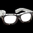 Black Pearlized Reading Glasses