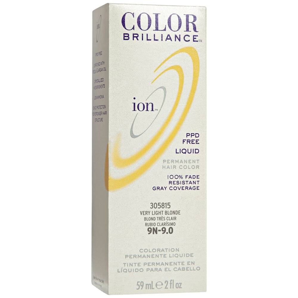 Ion 9n Very Light Blonde Permanent Liquid Hair Color By