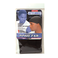 Black Smooth Fit Dome Cap