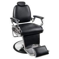 Jaguar Black Barber Chair
