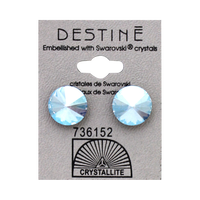 Destine Blue Shimmer Rivoli Crystal Earring