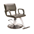 AR-HC-01-B  Steel Frame Hydraulic Black Chair with Round Base