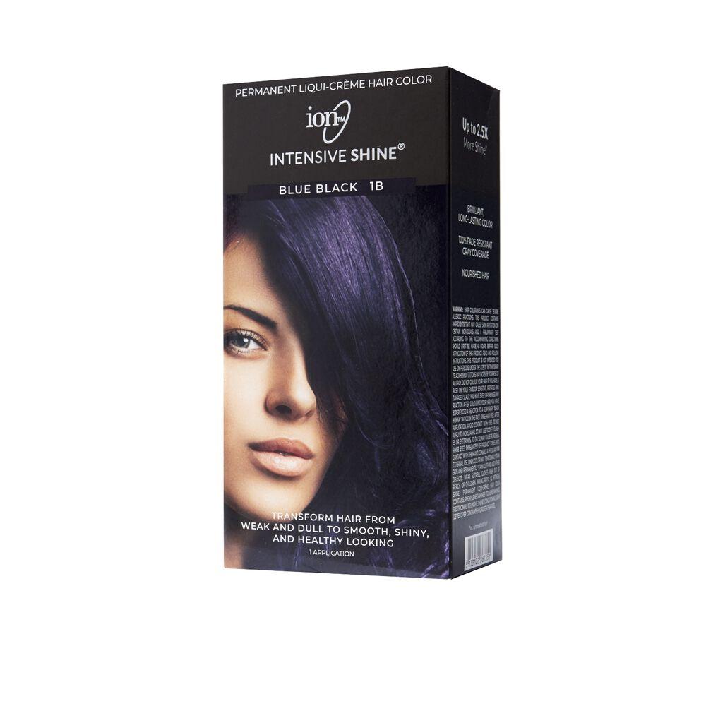 Ion Intensive Shine Hair Color Kit Blue Black 1b