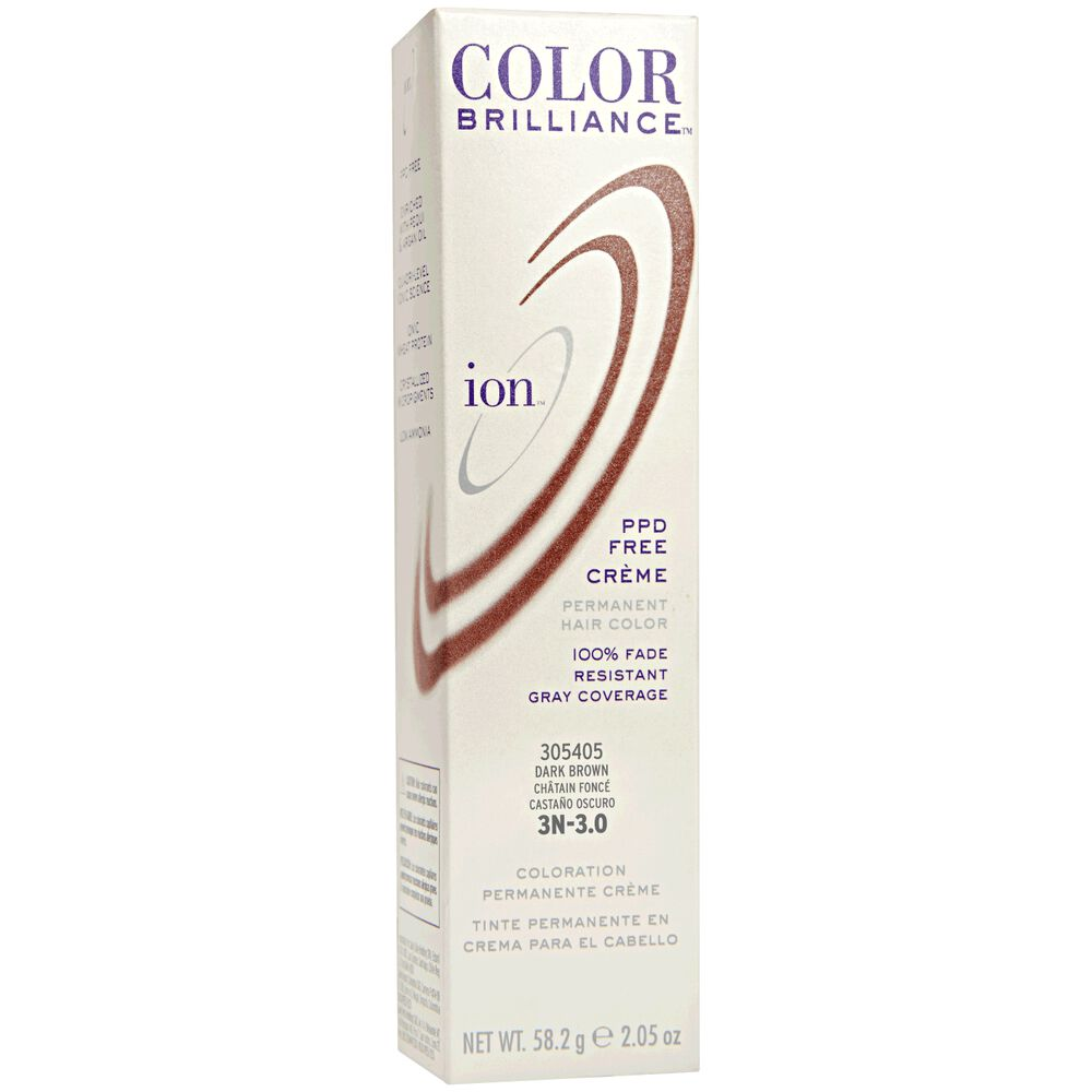 Ion 3n Dark Brown Permanent Creme Hair Color By Color Brilliance