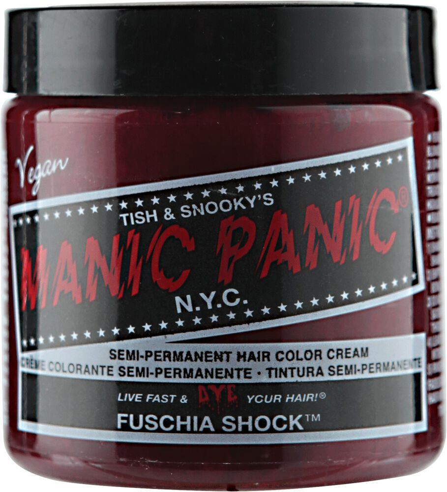 Manic Panic Semi-Permanent Hair Color Cream Fuschia Shock