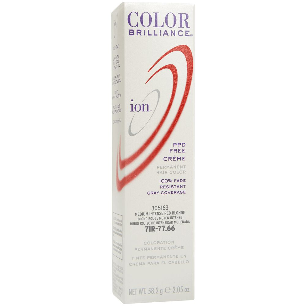 Ion 7ir Medium Intense Red Blonde Permanent Creme Hair Color By
