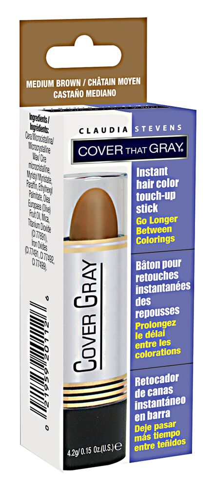 claudia stevens cover that gray medium brown temporary color touch