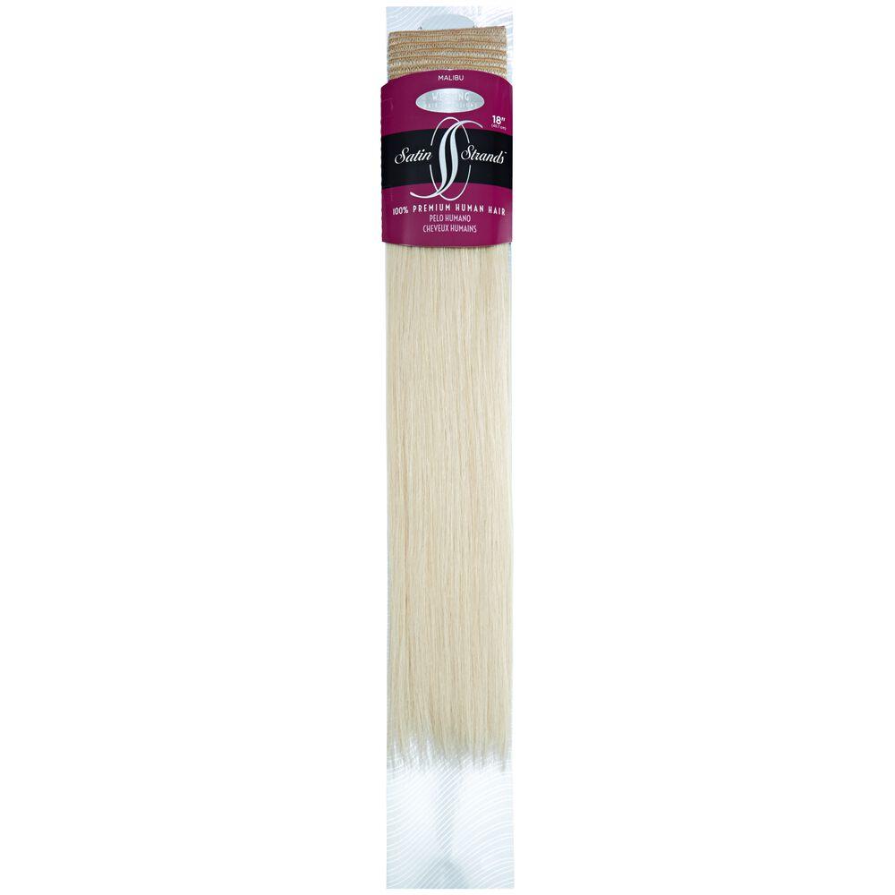 Satin Strands Premium Human Hair Extensions 18 Inch Malibu