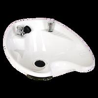White 8700 Tilting Porcelain Shampoo Bowl