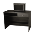 G12 Montego Reception Desk Matte Black