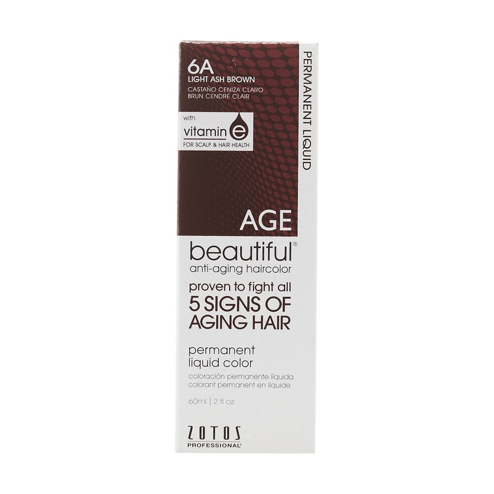 Anti Aging 6a Light Ash Brown Permanent Liquid Hair Color By