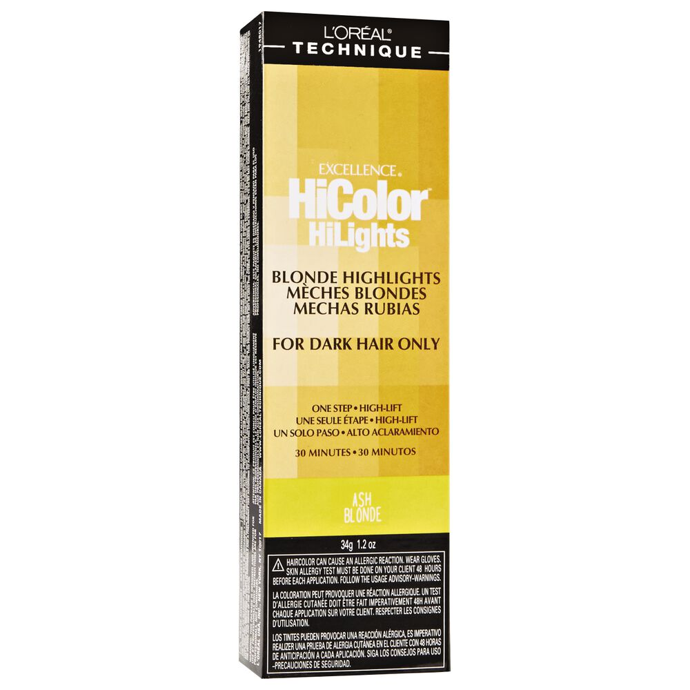 Loreal Hicolor Blonde Hilights Ash Blonde Permanent Creme Hair