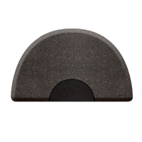 3 X 5 Granite Steel Round Mat with Chair Depression
