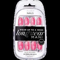 Neon Pink Swirl Pattern Press On Nails