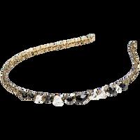 Gold Thread Headband With Beads