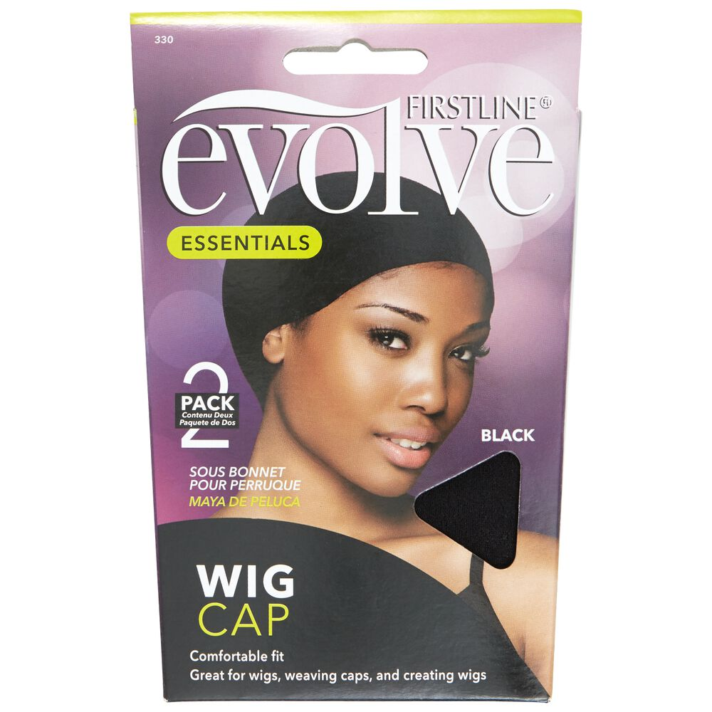 Evolve Black Wig Cap
