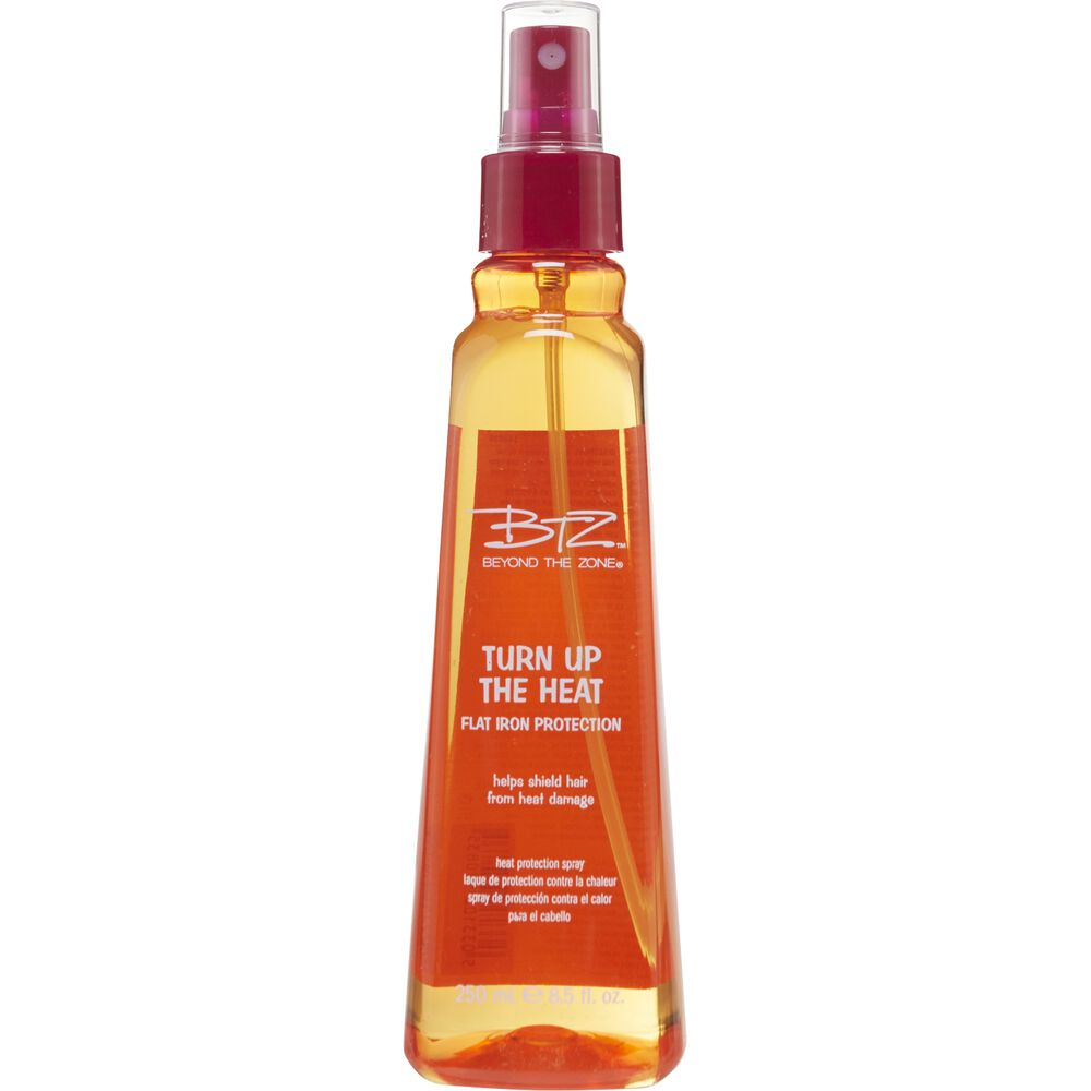 protecting hair from heat styling beyond the zone turn up the heat flat iron protection spray 8547 | SBS 140036