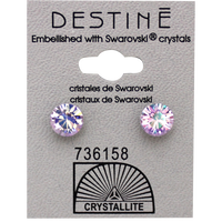 Destine Violet AB Diamond Cut Earring