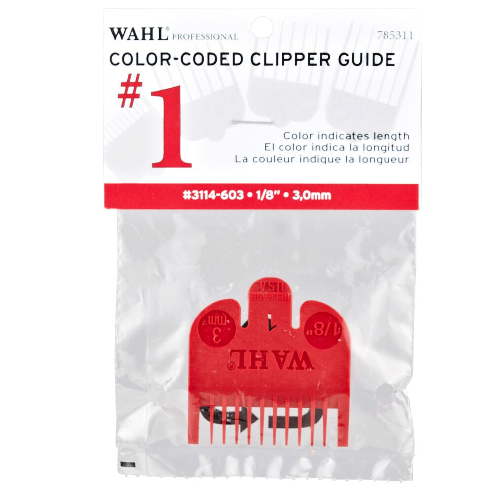 1 Color Coded Clipper Guide 18 In By Wahl Hair Clipper