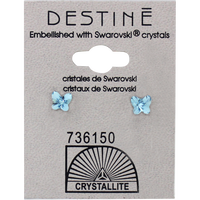 Destine Aqua Butterfly Earring