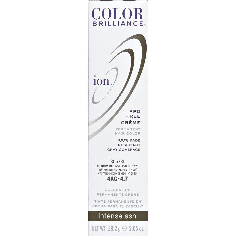 Ion 4ag Medium Intense Ash Brown Permanent Creme Hair Color By Color
