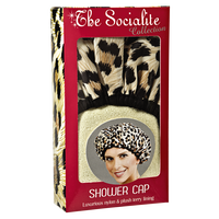 Socialite Safari Spots Shower Cap