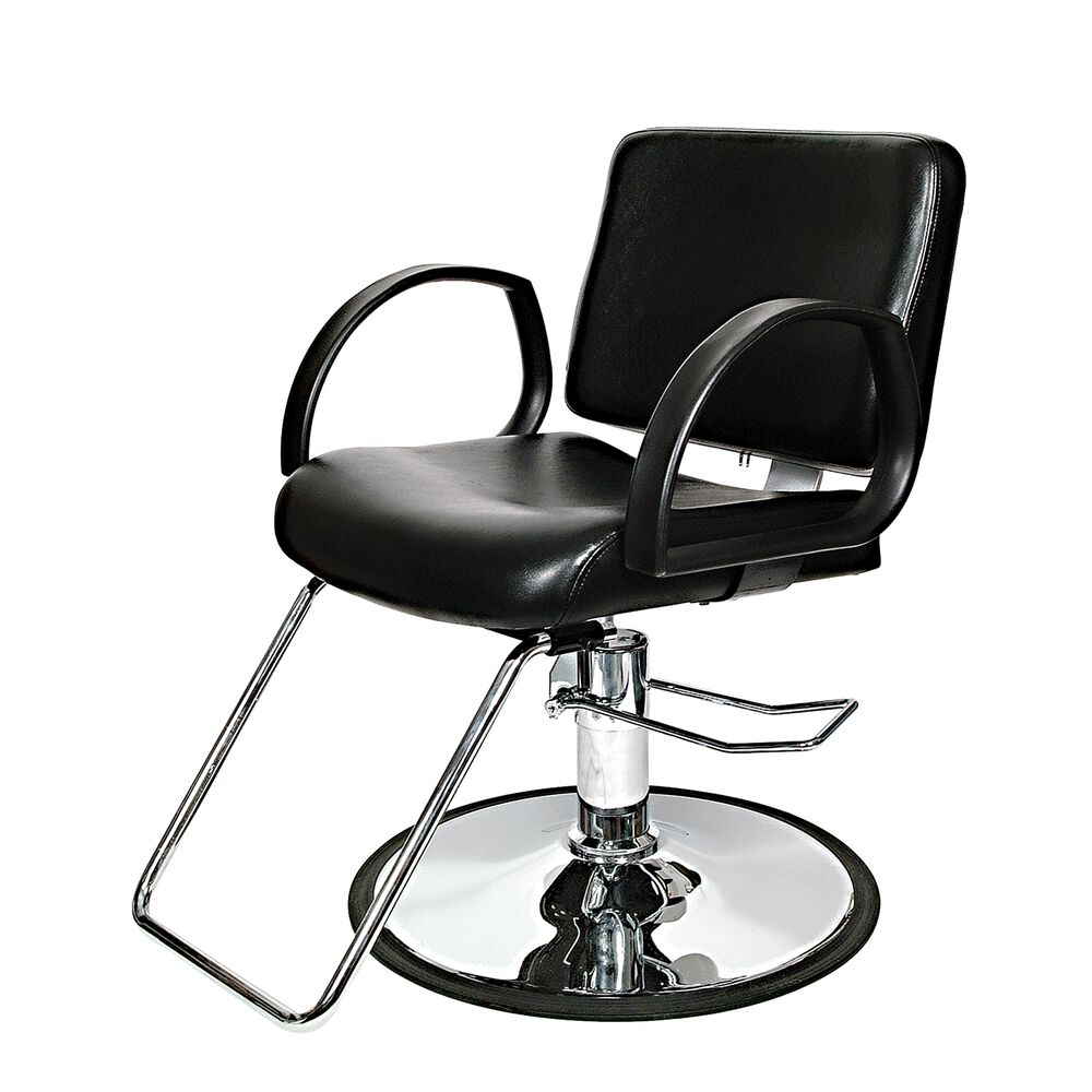 Puresana niki styling chair with round chrome base for Salon chairs