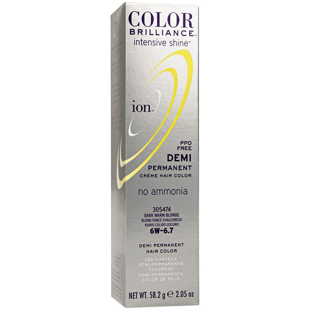 Dark Warm Blonde Ion Color Brilliance Demi Permanent Creme Hair
