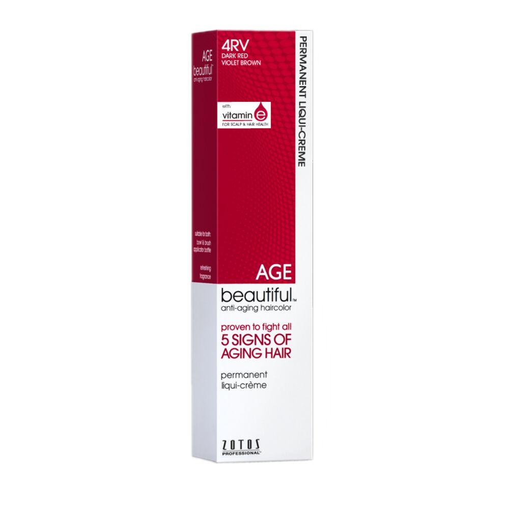 AGEbeautiful 4RV Dark Red Violet Brown Permanent Liqui Crème Hair ... b053eb325bd