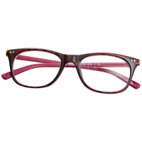 Pink Tortoise Print Fashion Reading Glasses