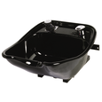 8600 Pivoting Porcelain Enamel Cast Iron Bowl Black