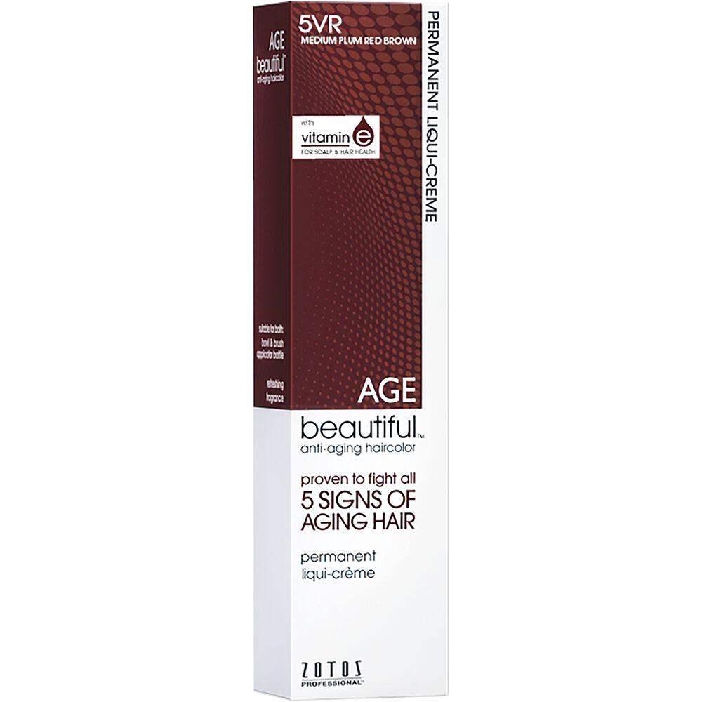 5rv Medium Plum Red Brown Permanent Liqui Creme Hair Color By