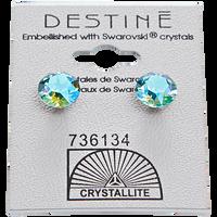 Aqua Aura Diamond Earrings