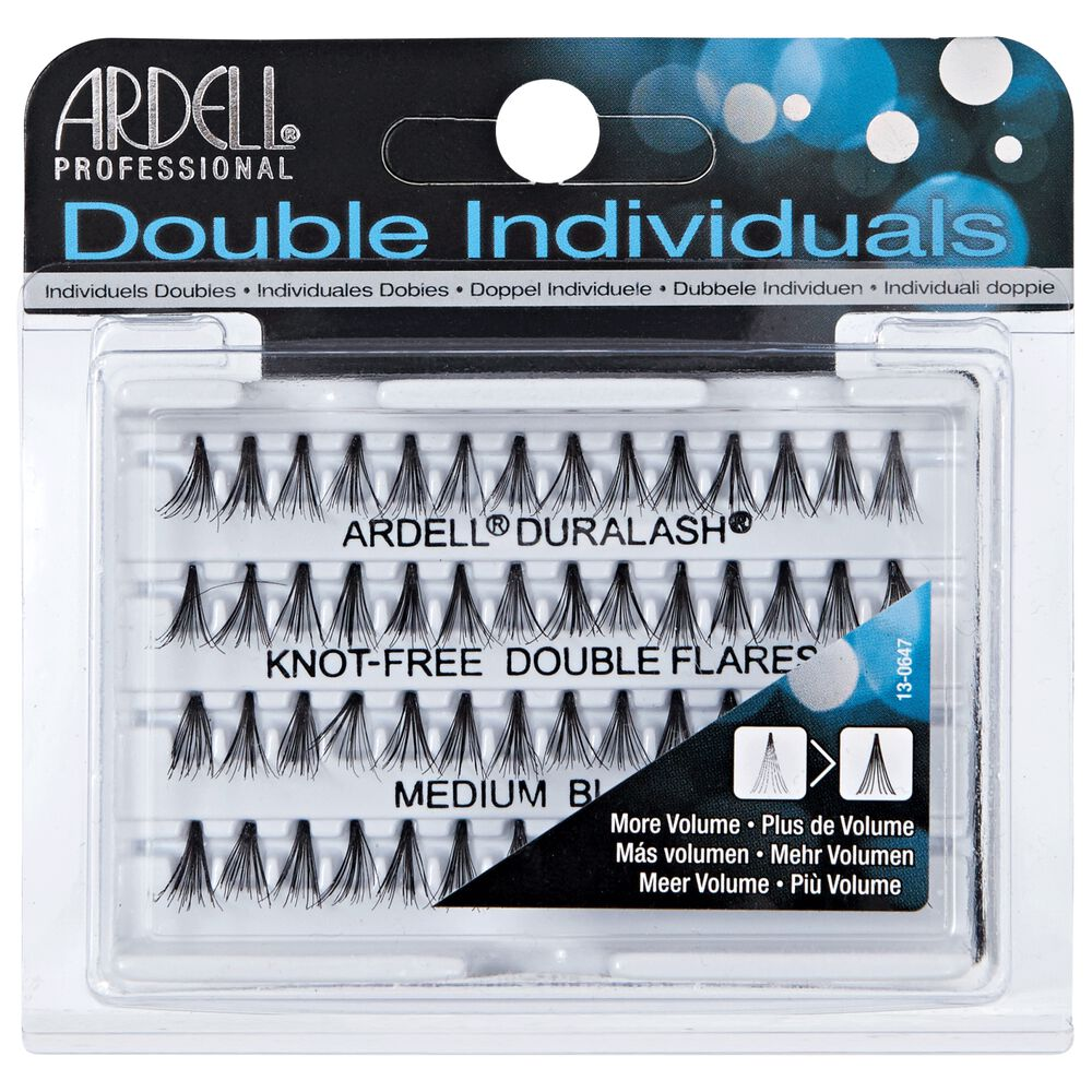 Double Individual Medium Black Lashes By Ardell Eyelash Extensions