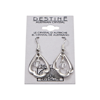Destine Trefoil Dangle Earrings