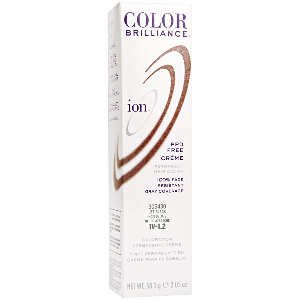 Ion 1v Jet Black Permanent Creme Hair Color By Color Brilliance