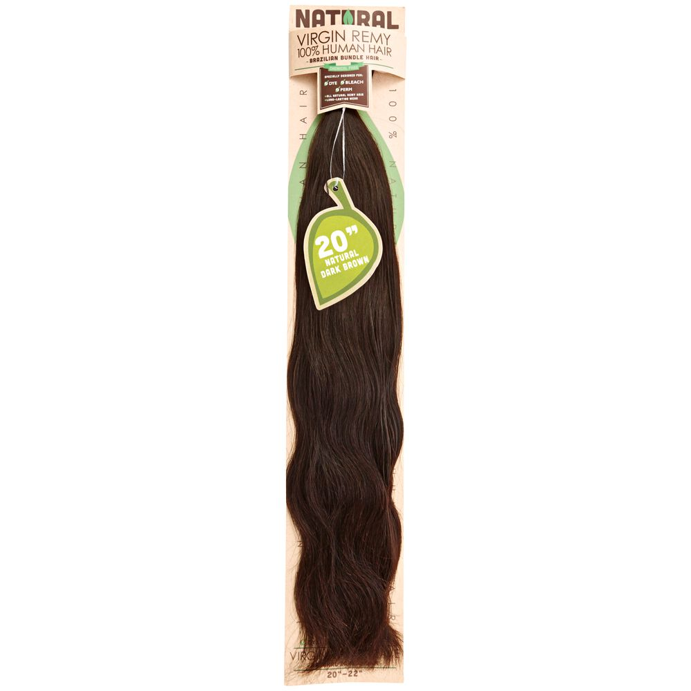 Sassy Natural Dark Brown 20 Inch Virgin Human Hair Extension